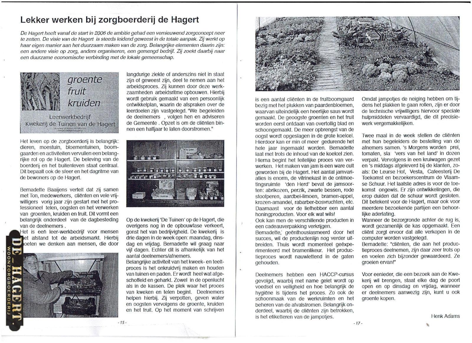 artikel kwekerij in Op de Hoogte 002